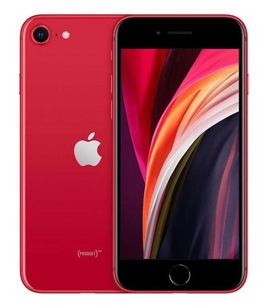 【中古】【安心保証】 UQモバイル iPhoneSE 2[64G] レッド