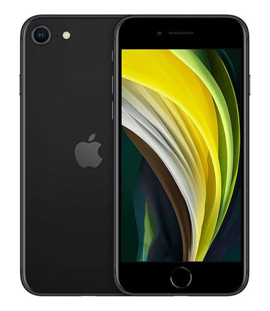 【中古】【安心保証】 UQモバイル iPhoneSE 2[128Gシム解] ブラック