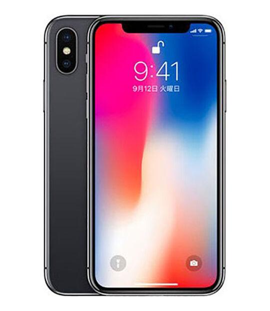 【中古】【安心保証】 SIMフリー iPhoneX[256G特価品] スペースグレイ