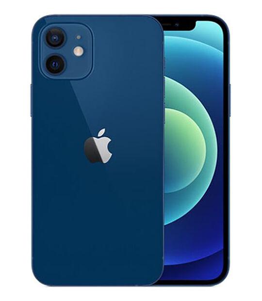 【中古】【安心保証】 au iPhone12[64G] ブルー