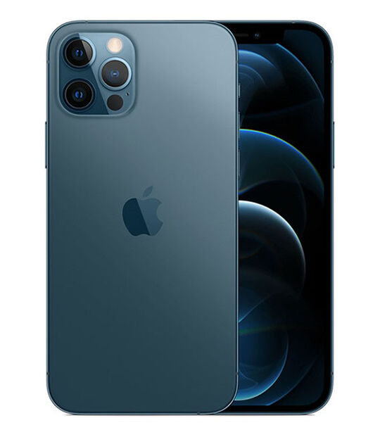 【中古】【安心保証】 au iPhone12Pro[256G] ブルー