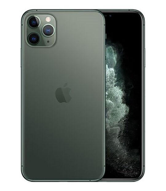 【中古】【安心保証】 SoftBank iPhone11 Pro Max[64G] ミッドナイトグリーン