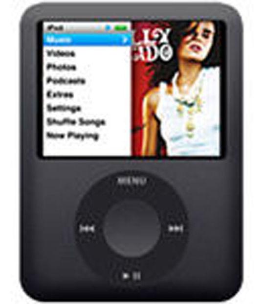 【中古】【安心保証】 iPodnano3[8GB](ブラック) MB261J