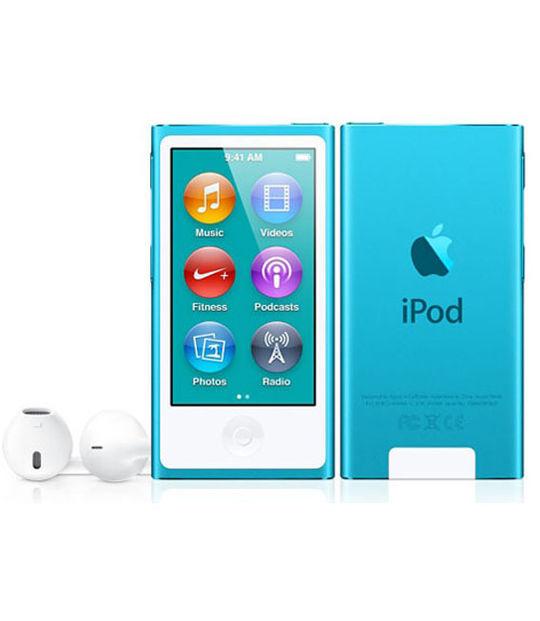 【中古】【安心保証】 iPodnano7[16GB](ブルー)MD477J