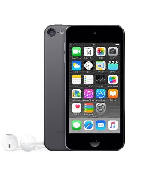 【中古】【安心保証】 iPodtouch6[128GB](スペースグレイ)MKWU2J