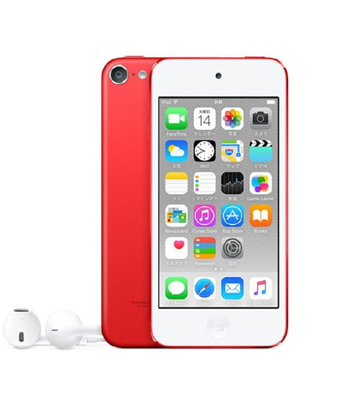 【中古】【安心保証】 iPodtouch6[128GB](レッド)NKWW2J