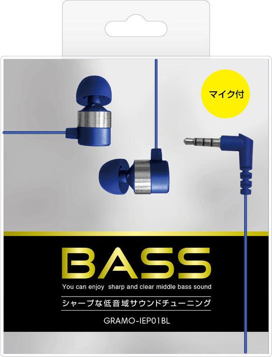 【GR】IEP01 NB /マイク付きイヤホン ネイビーブルー