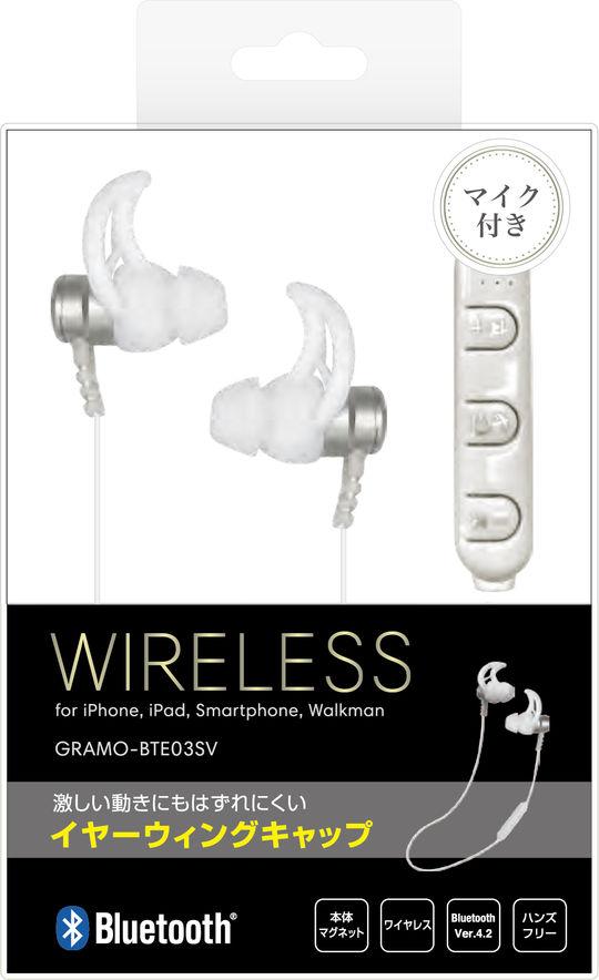 Bluetoothイヤホン GRAMO-BTE03 SV シルバー