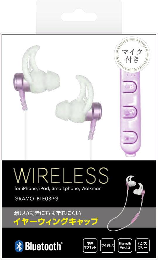 Bluetoothイヤホン GRAMO-BTE03 PG ピンクゴールド