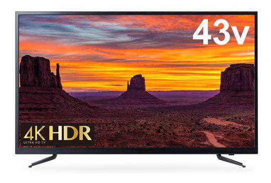 【新品】グリーンハウス 4K/HDR対応43V型液晶テレビ GH−TV43H−BK/グリーンハウス