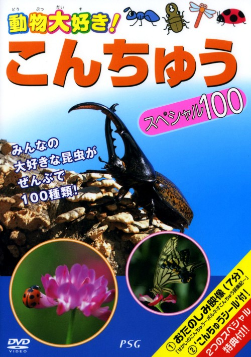 【中古】動物大好き! こんちゅうスペシャル100 【DVD】