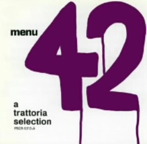 【中古】MENU42−A TRATTORIA SELECTION−/オムニバス