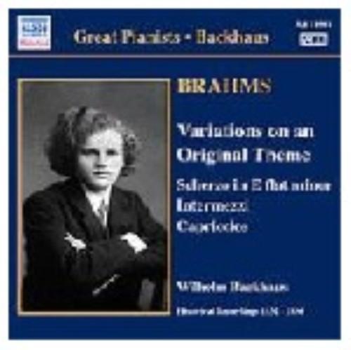 【中古】グレート・ピアニスト・シリーズ/バックハウス ブラームス:ピアノ独奏曲集/バックハウス
