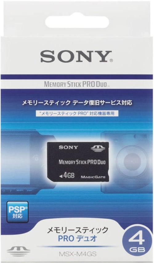【中古】ソニー/メモリースティックPRO Duo 4G