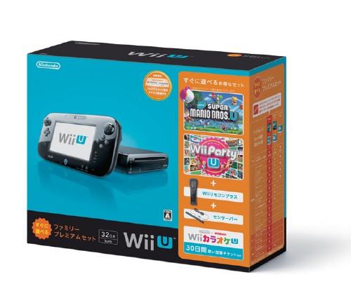 【中古・箱有・説明書無】Wii U すぐに遊べるファミリープレミアムセット (クロ) (同梱版)