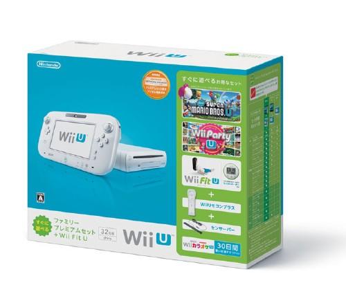 【中古・箱説なし・付属品なし・傷なし】Wii U すぐに遊べるファミリープレミアムセット+Wii Fit U (シロ) (限定同梱版)