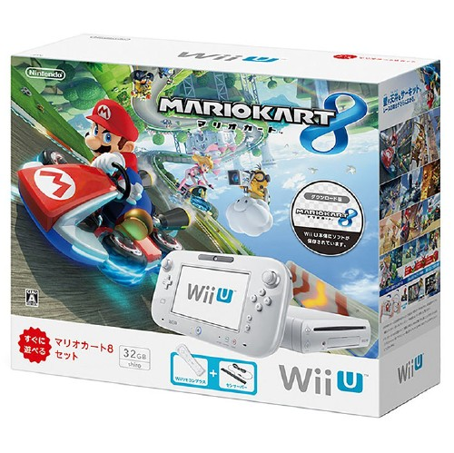 【中古・箱説なし・付属品なし・傷なし】Wii U マリオカート8 セット シロ (同梱版)