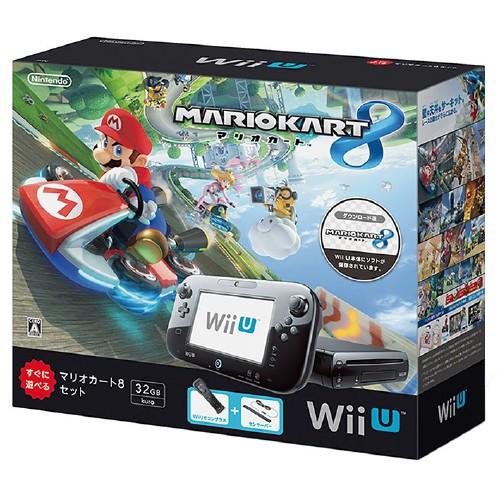 【中古・箱説なし・付属品なし・傷なし】Wii U マリオカート8 セット クロ (同梱版)