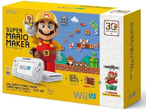 【中古・箱有・説明書無】Wii U スーパーマリオメーカー スーパーマリオ30周年セット (同梱版)