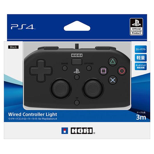 【中古】ワイヤードコントローラーライト for PlayStation4 ブラック
