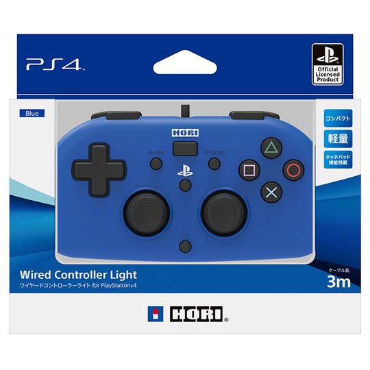 【中古】ワイヤードコントローラーライト for PlayStation4 ブルー