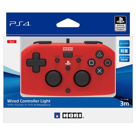 【新品】ワイヤードコントローラーライト for PlayStation4 レッド
