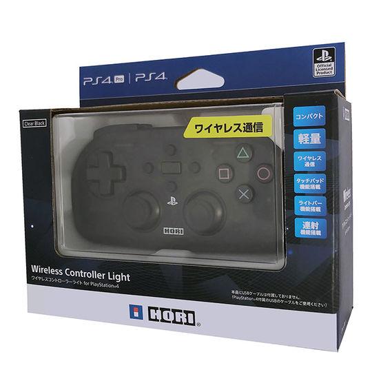 【新品】ワイヤレスコントローラーライト for PlayStation4 クリアブラック