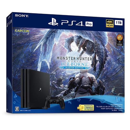 【新品】PlayStation4 Pro モンスターハンターワールド:アイスボーン マスターエディション Starter Pack (同梱版)