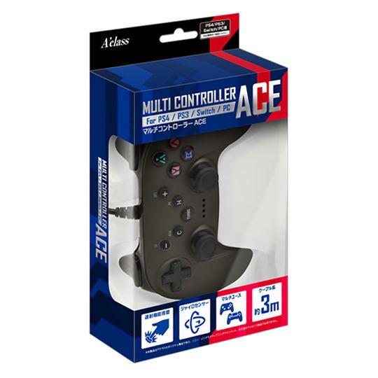 【新品】PS4/PS3/Switch/PC用マルチコントローラーACE メタルブラック