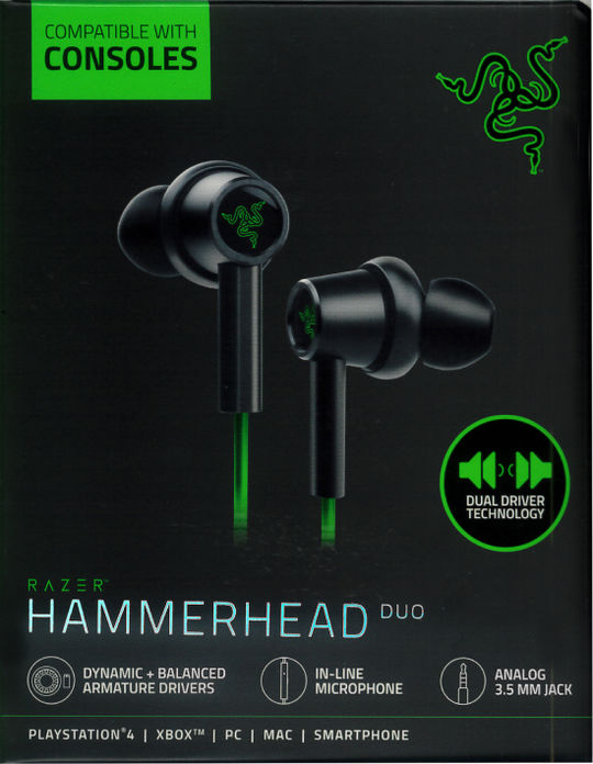 【新品】Hammerhead Duo Console−Razer Green Limited Edition