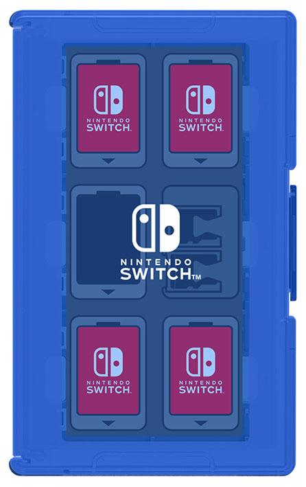 【新品】カードケース12+2 for Nintendo Switch ブルー