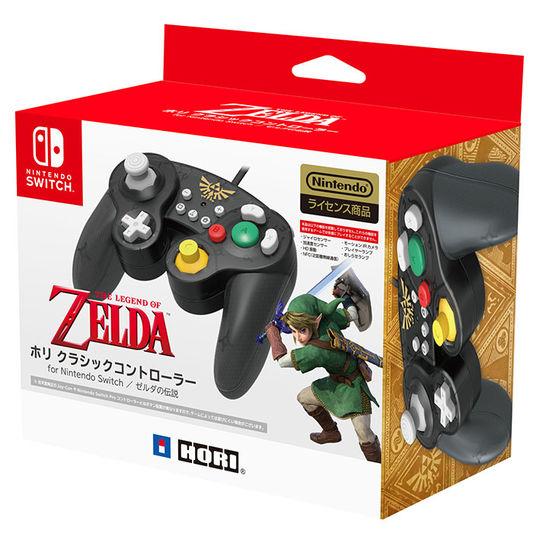 【新品】ホリ クラシックコントローラー for Nintendo Switch ゼルダ