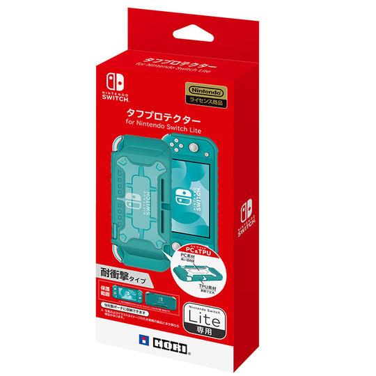 【新品】タフプロテクター for Nintendo Switch Lite クリア×ターコイズ