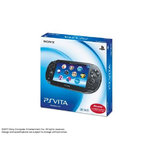 【中古】PlayStation Vita 3G/Wi−Fiモデル PCH−1100AA01 クリスタル・ブラック (初回版)