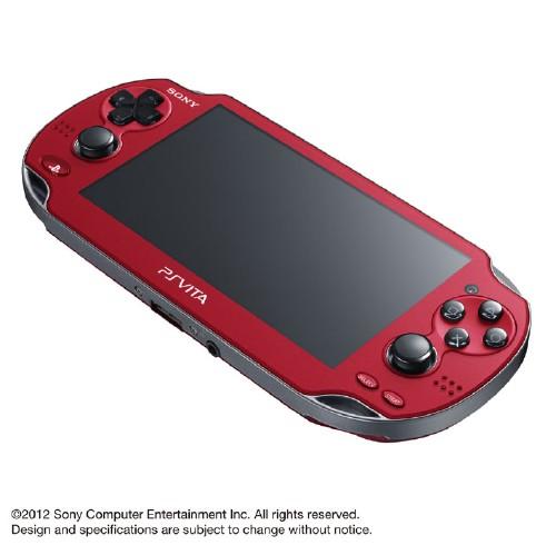 【中古・箱無・説明書有】PlayStation Vita 3G/Wi−Fiモデル PCH−1100AB03 コズミック・レッド (限定版)