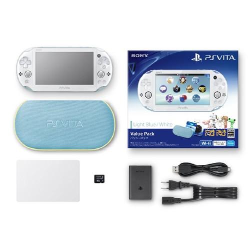 【中古】PlayStation Vita Value Pack PCHJ−10013 ライトブルー/ホワイト (限定版)