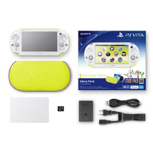 【中古】PlayStation Vita Value Pack PCHJ−10014 ライムグリーン/ホワイト (限定版)