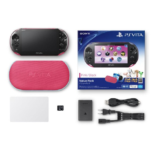 【中古】PlayStation Vita Value Pack PCHJ−10015 ピンク/ブラック (限定版)