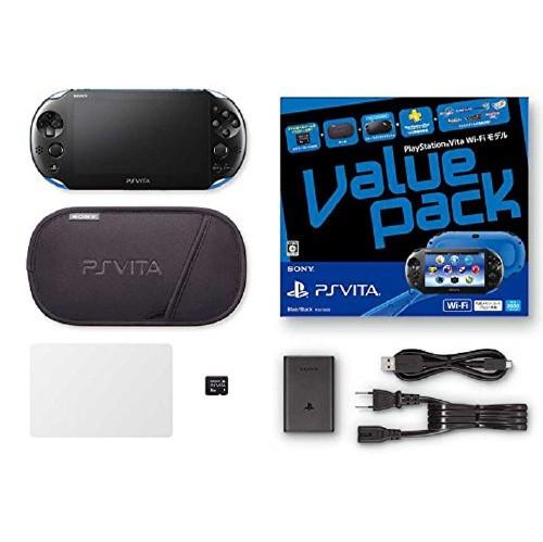 【中古】PlayStation Vita Value Pack Wi−Fiモデル PCHJ−10022 ブルー/ブラック (限定版)