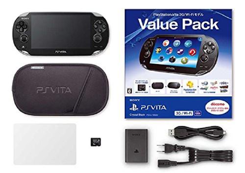 【中古】PlayStation Vita Value Pack 3G/Wi−Fiモデル PCHJ−10023 クリスタル・ブラック (限定版)