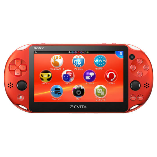 【中古】PlayStation Vita Wi−Fiモデル PCH−2000ZA26 メタリック・レッド