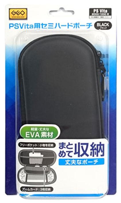 【新品】PCH−1000/2000用 PSVita用セミハードポーチ(ブラック)