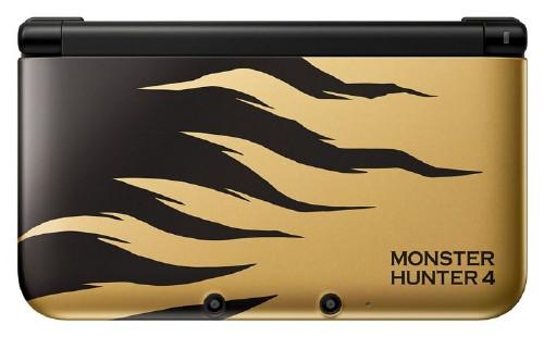 【中古・箱説なし・付属品なし・傷あり】ニンテンドー3DS LL MONSTER HUNTER 4 ラージャンゴールド (限定版)