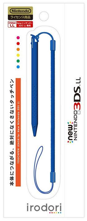【新品】New 3DS LL用 タッチペンリーシュ for Newニンテンドー3DS LL ブルー