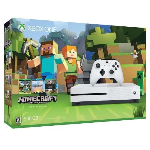 【中古・箱無・説明書有】Xbox One S 500GB (Minecraft 同梱版)