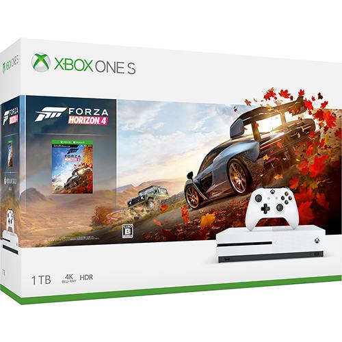 【中古・箱説なし・付属品なし・傷あり】Xbox One S 1TB (Forza Horizon 4 同梱版)
