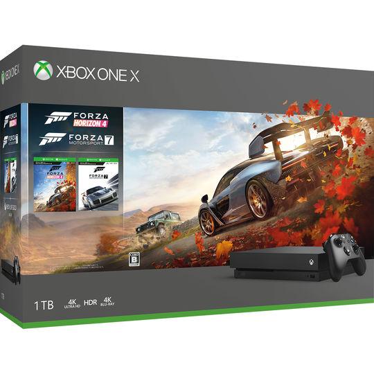 【中古・箱説あり・付属品あり・傷なし】Xbox One X (Forza Horizon 4/Forza Motorsport 7 同梱版)