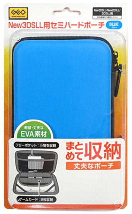 【新品】New 3DS LL/New 2DS LL用 セミハードポーチ(ブルー)