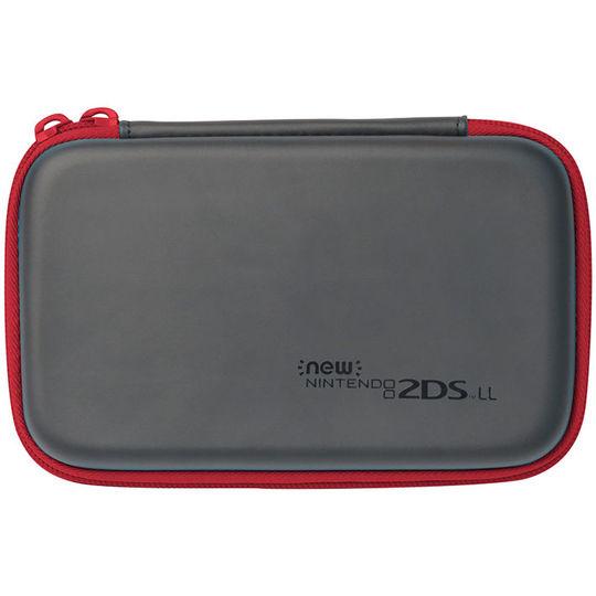 【新品】New 2DS LL用 スリムハードポーチ for Newニンテンドー2DS LL ブラック×レッド