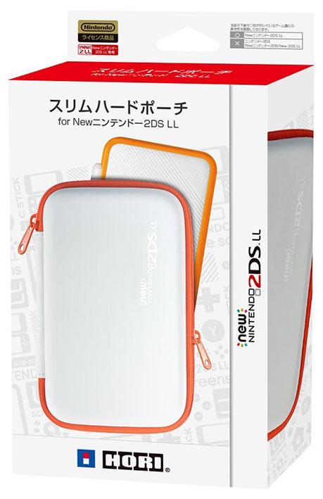 【新品】New 2DS LL用 スリムハードポーチ for Newニンテンドー2DS LL ホワイト×オレンジ